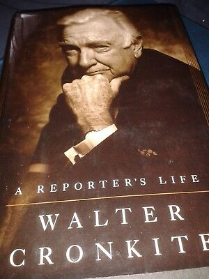 "Cronkite, Walter "" A Reporter's Life "" First Ed, Signed,Hard Covr, Autobiography"