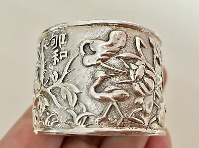 Antique Chinese Silver Napkin Ring  (R2536 )