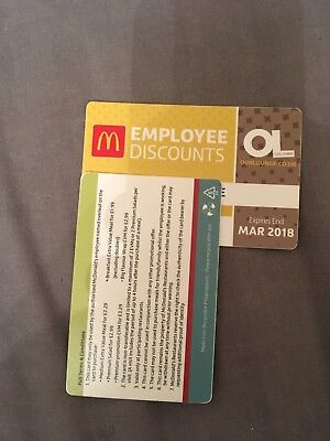 McDonald's Discount Card