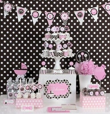 Pink Baby Shower Mod Party Kit by Eventblossom. Brand New