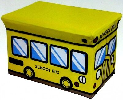 Yellow School Bus Folding Storage Bench. Home Basics. Shipping Included