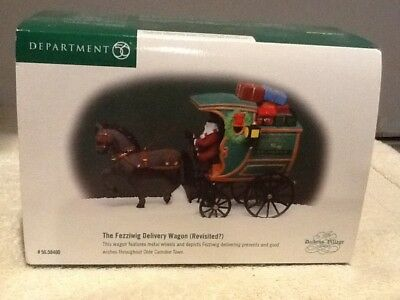Dept 56 Dickens Village - The Fezziwig Delivery Wagon, with Book- #58400 - Mint