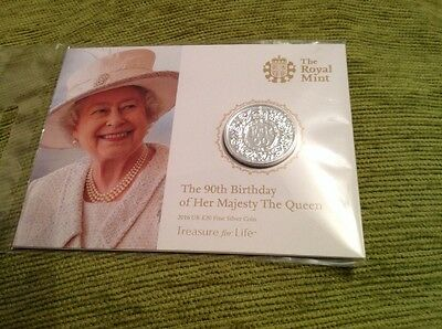 Royal Mint £20 Fine Silver coin. The 90th Birthday of Her Majesty the Queen 2016