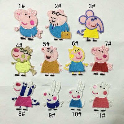 NEW Peppa Pig George Pig Family & Friends IRON ON patch EMBELLISHMENT DIY