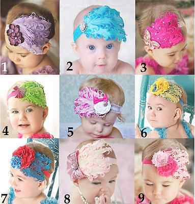 BABY GIRL Real FEATHER Headband photo prop *1 size fits 6m- 6 years*
