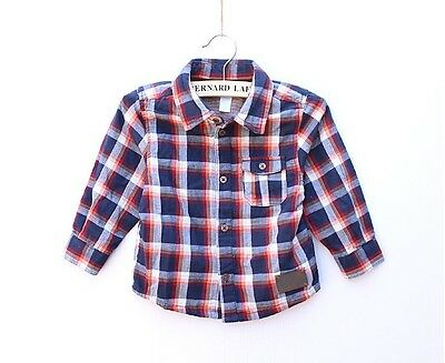 new  OBAIBI Baby Boys Scottish Checks Classic Long Sleeves Shirt Top Size 18m