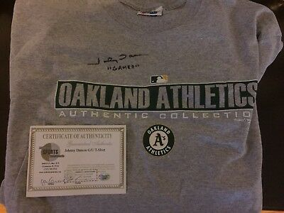 Johnny Damon Autographed Game Used T-Shirt