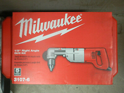 NEW Milwaukee 3107-6 1/2 in. Heavy Right-Angle Drill Kit with Case