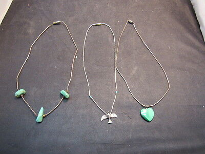 navajo sterling siver turquoise necklace