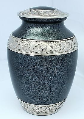 Cremation Urn for Ashes Pet Dog Cat Memorial Funeral Medium/Small Grey Brass Urn