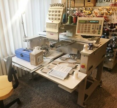 SWF/A-T1201 Embroidery Machine (2 Avail) Low Count Professionally Maintained