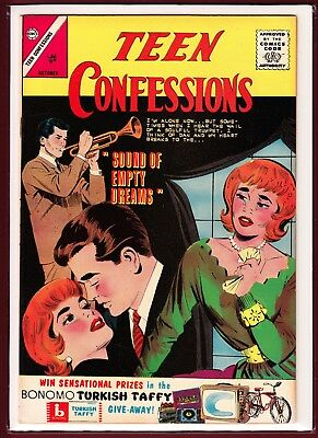 """Teen Confessions # 25_(1963)_""""sound Of Empty Dreams""""_Silver Age Romance."""