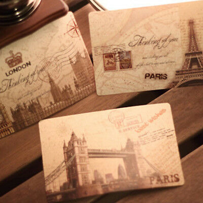 1Set/9pcs Vintage Travel Landscape Postcard Greeting Card Gift Cards ECUS