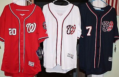 new arrival 07bb3 a8cb3 DANIEL MURPHY TREA Turner Anthony Rendon Jersey Red Navy Washington  Nationals