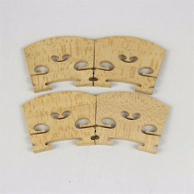 2pcs High Grade 4/4 violin bridges fine maple laser precise