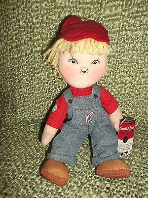 """2004  9 1/2"""" Stuffed Cloth Campbell Kid - Clothing is removable - 1st in series"""