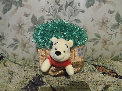 "Winnie the Pooh in Tree House  Plush child's Purse 7"" x 6"" Disney Play Pal Pooh"