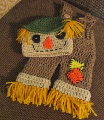 Crocheted Baby  Halloween Scarecrow Outfit Photo prop