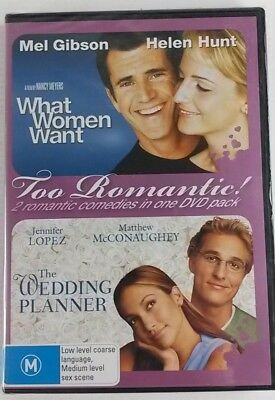 Wedding Planner / What Women Want  Too Romantic Pack DVD 2-Disc Set NEW & SEALED