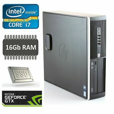 Intel i7 3.40Ghz Gaming PC 16Gb Ram 240Gb SSD NVIDIA GTX 1650 4Gb Win 10 Wifi
