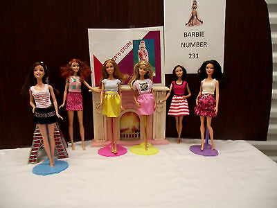 Barbie doll lot of six number 231 fashionista ones