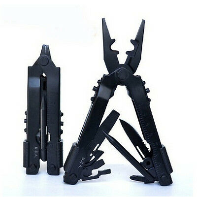 Outdoor Portable Stainless Steel Survival Multi Tool Plier Pocket Carabiner ECUS