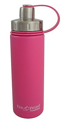 (20-Ounce/600ml, Ava Pink) - EcoVessel BOULDER Vacuum Insulated Stainless