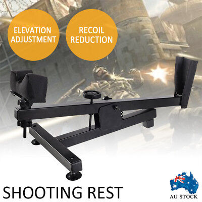 New Shooting Rest Benchrest Hunting Gun Rifle Shoot Bench Steel Steady Pad Stand