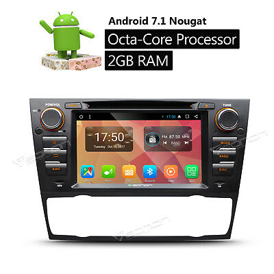 "7""Android 6.0 Octa Core Car Radio DVD GPS Navigation Touch Screen for BMW E90 b"