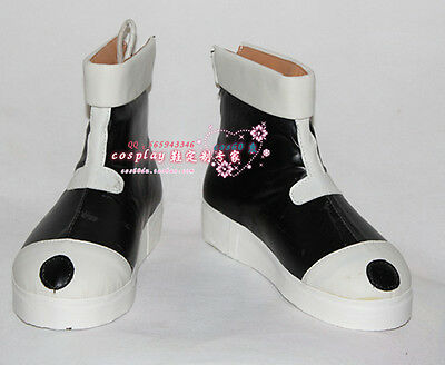 Hunter X Hunter Killua Zaoldyeck White Black boots cosplay shoes