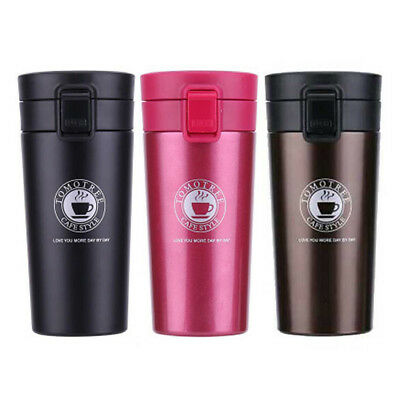 Stainless Steel Thermos Travel Mug Insulated Flask Tea Coffee Thermal Cup 380ml