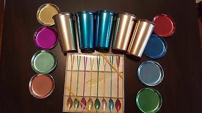 Tallstirs Aluminum Drink Spoons Walther Colors Anodized Wear Ever Cups Plates