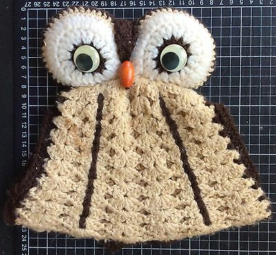 Vintage 70s 80s OWL TEA COSY wool knit folk art quality kitchen ware pure kitsch