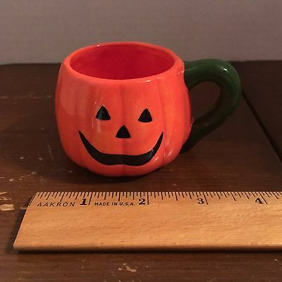 Decorative Halloween Ceramic Pumpkin Mug