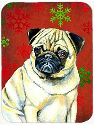 (Red and Green Snowflakes) - Caroline's Treasures LH9342LCB Pug Snowflakes