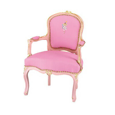 Baroque Style Pink Children's Armchair Throne Chair Germany Princess Lillifee