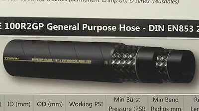 """Hydraulic Hose 3/8"""" 2 Wire 5 Metre Roll SAE100R2 and Din 853 2SN Standard"""