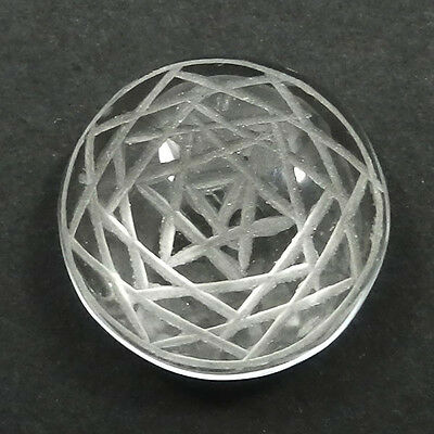 21.60Ct AAA+ Quality NATURAL CRYSTAL Carving 18mm Round Silver Jewelry Gemstone