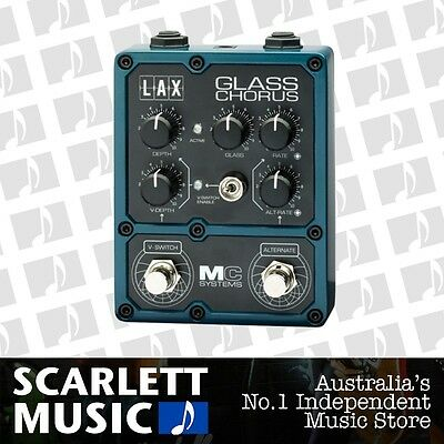 MC Systems LAX Glass Chorus Effects Pedal *BRAND NEW*