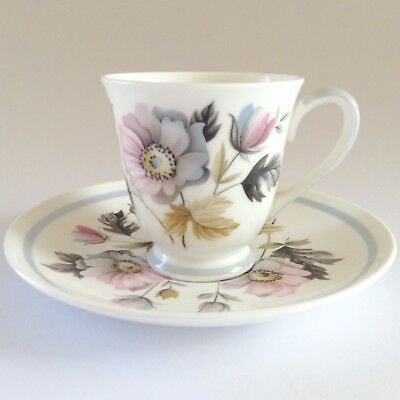 Delicate 1950s TUSCAN Alderney Demitasse Cup Saucer Duo Susie Cooper Influence