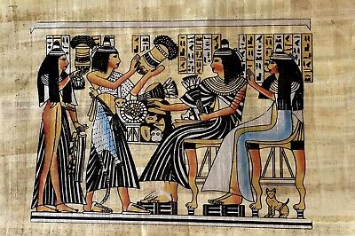 Egyptian Hand-Painted Handmade Papyrus Artwork.