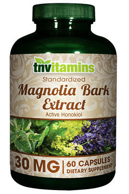 Magnolia Bark Extract 30 Mg - 60 Quick Release Capsules