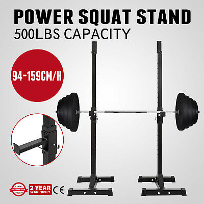 Power Squat Stand Gym Weight Bench Support 500lbs Capacity Dip Stand Barbell