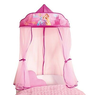Girls Bed Canopy for Single Bed Toddler Princess Pink Fairy Bedroom Magical
