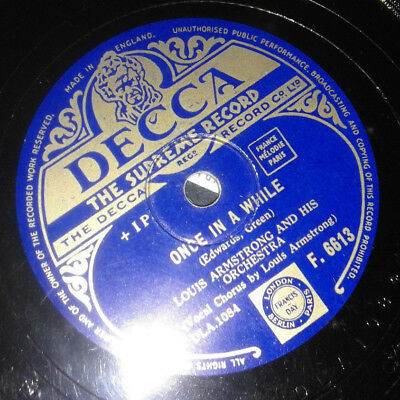Armstrong Louis - Once In A While - On The Sunny Side Of The Street -Decca F6613