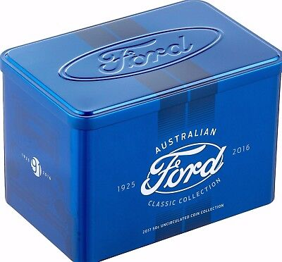 2017 50c UNC FORD AUSTRALIAN CLASSIC COLLECTION TIN only PRE SALE