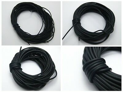 Black Solid Rubber Cord Thread String for Pendants Pick Your Size