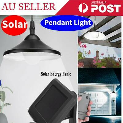 Solar Powered Garden Patio Hanging Shed LED Lamp Pendant Light w/ Remote Control