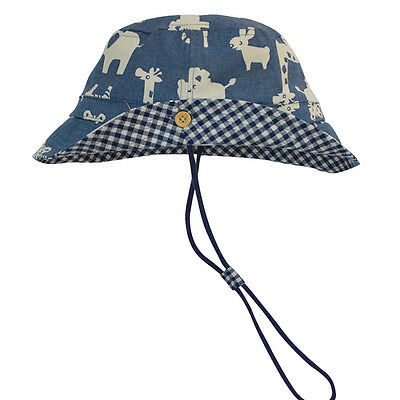 Kids Boys Animal Safari Bucket Cotton Adjustable Hat w/ Brim  *Size 6 mos-6 yrs