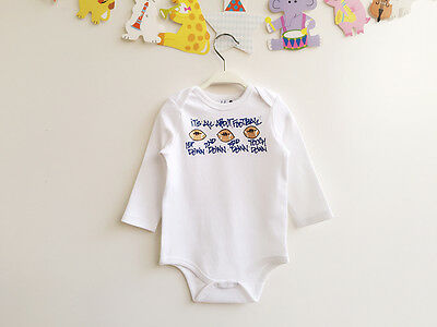 Baby Boys Long Sleeve Bodysuit ITS ALL ABOUT FOOTBALL 0-6m 6-12m